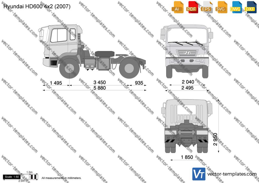 Hyundai HD600 4x2 Tractor 2007