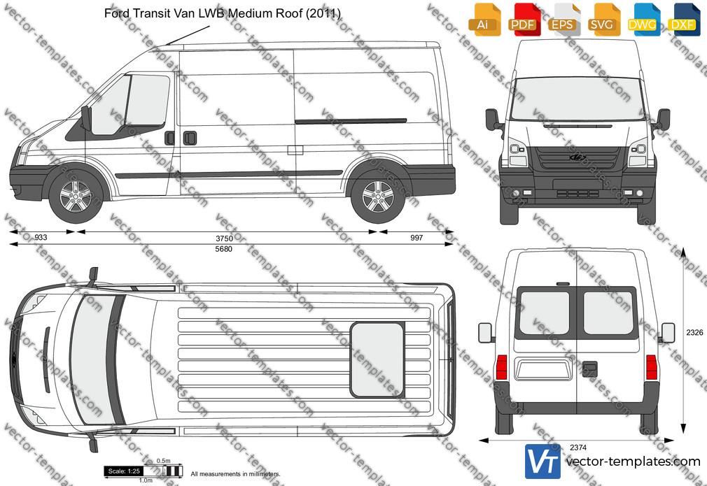 Ford Transit Van LWB Medium Roof 2011