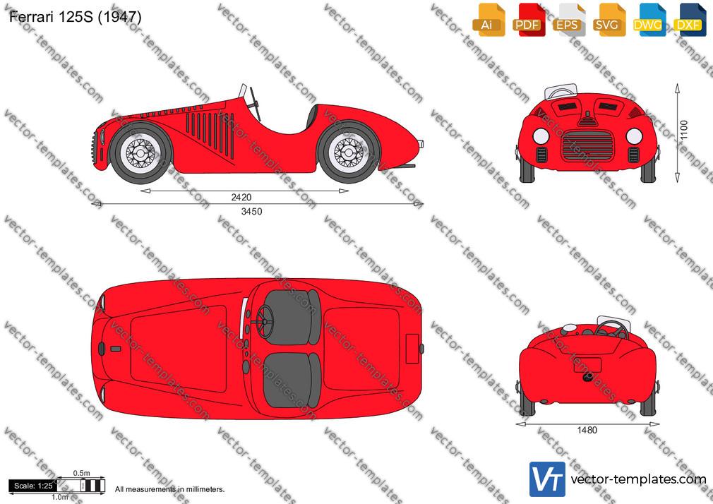 Templates Cars Ferrari Ferrari 125s