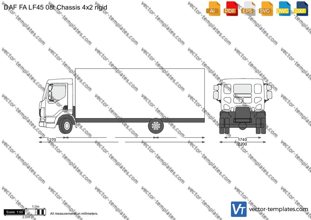DAF FA LF45 08t Chassis 4x2 rigid