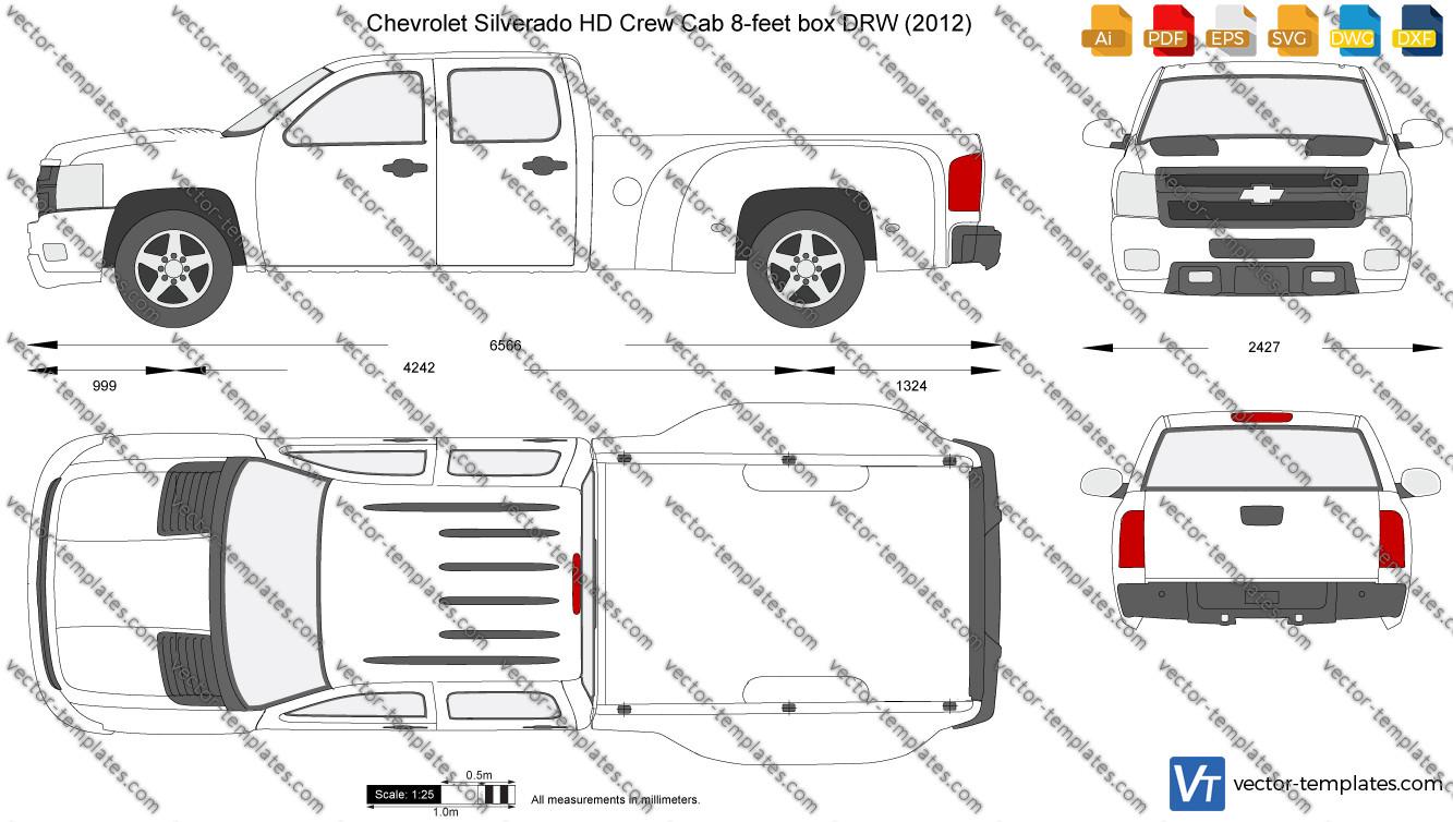 Chevrolet Silverado HD Crew Cab 8-feet box DRW 2012