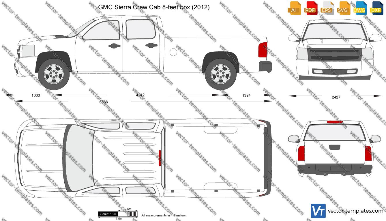 GMC Sierra Crew Cab 8-feet box 2012