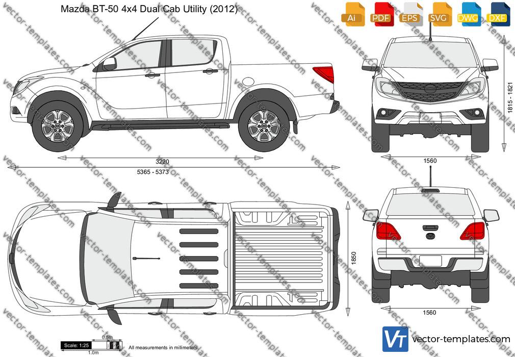 Mazda BT-50 4x4 Dual Cab Utility 2012
