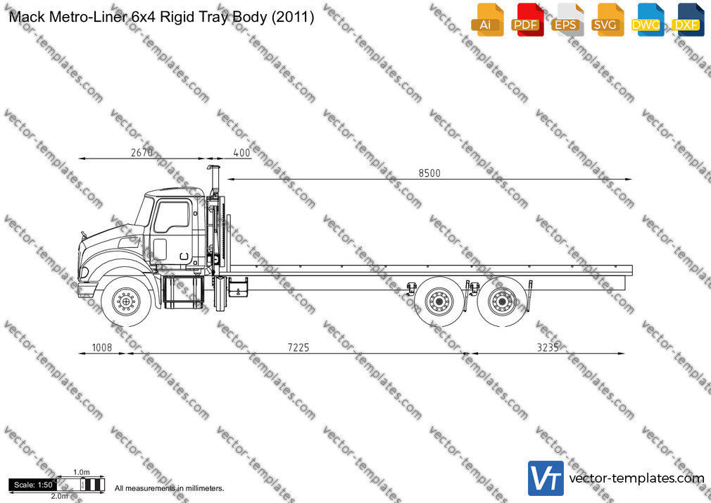 Mack Metro-Liner 6x4 Rigid Tray Body 2011