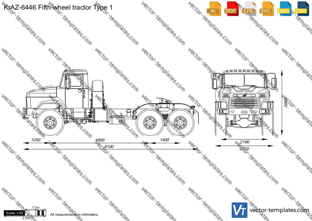 KrAZ-6446 Fifth-wheel tractor Type 1