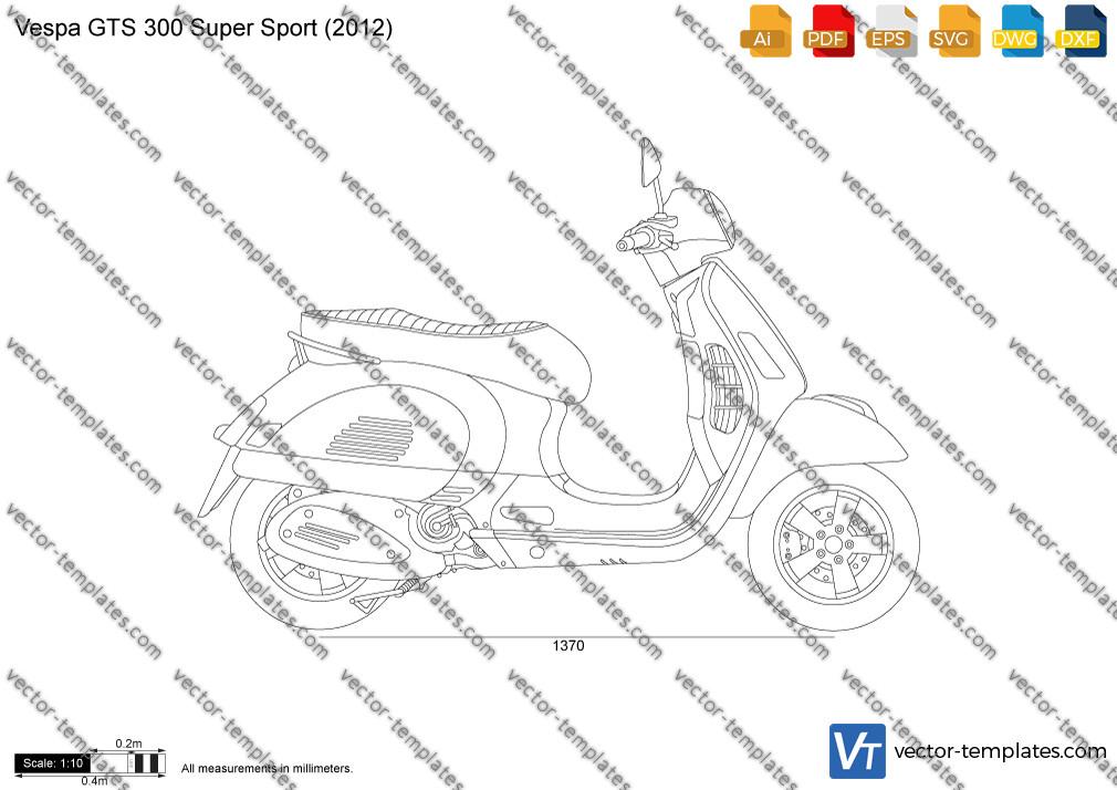 Vespa GTS 300 Super Sport 2012