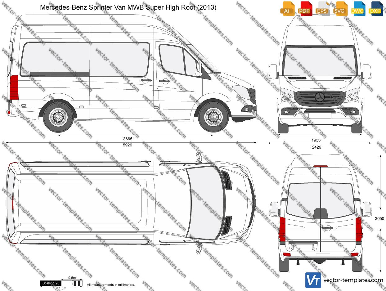 Mercedes-Benz Sprinter Van MWB Super High Roof 2013