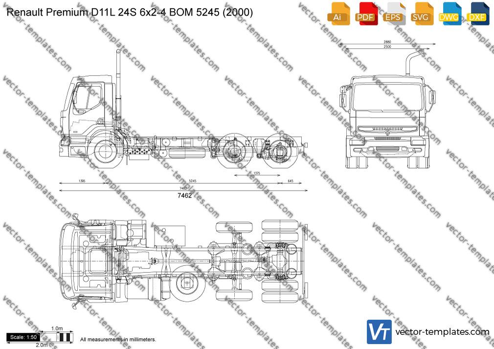 Renault Premium D11L 24S 6x2-4 BOM 5245 2000