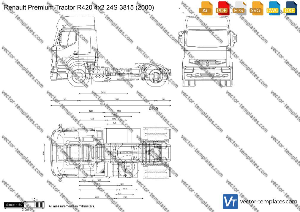 Renault Premium Tractor R420 4x2 24S 3815 2000