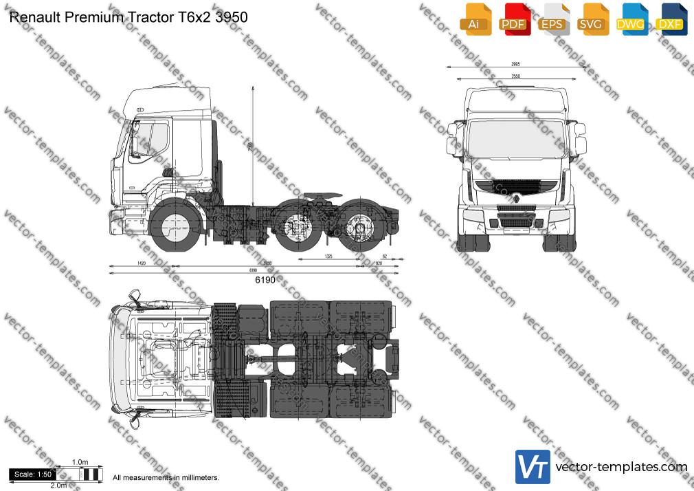 Renault Premium Tractor T6x2 3950