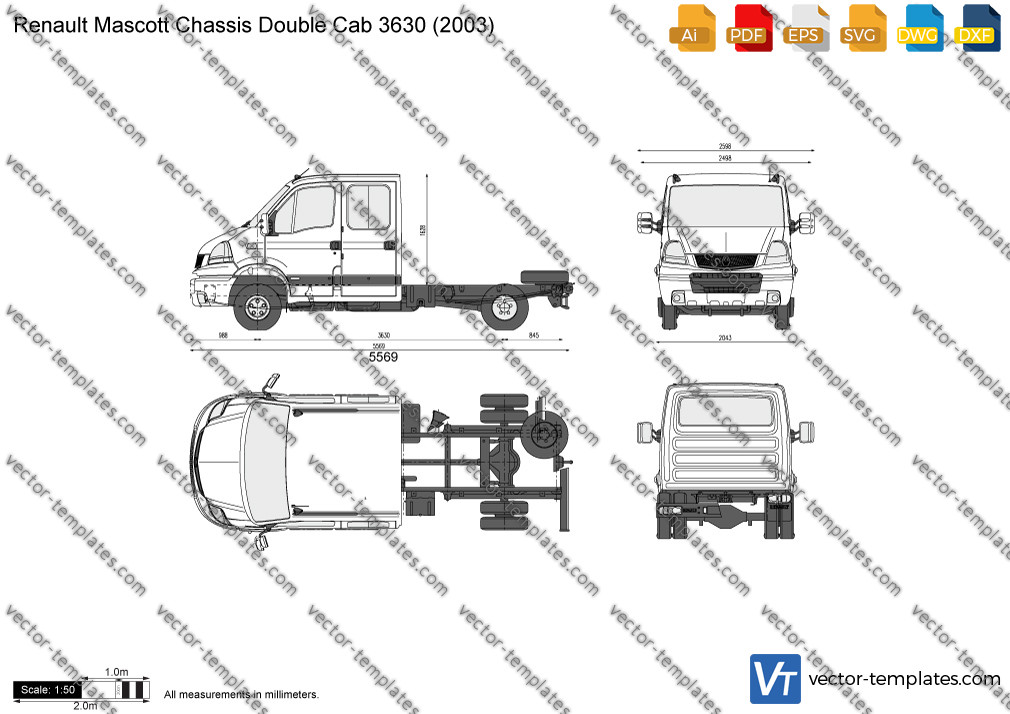 Renault Mascott Chassis Double Cab 3630 2003