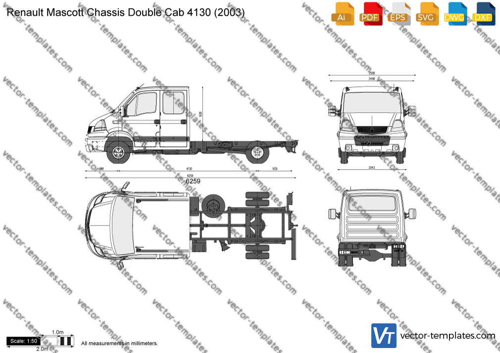 Renault Mascott Chassis Double Cab 4130 2003
