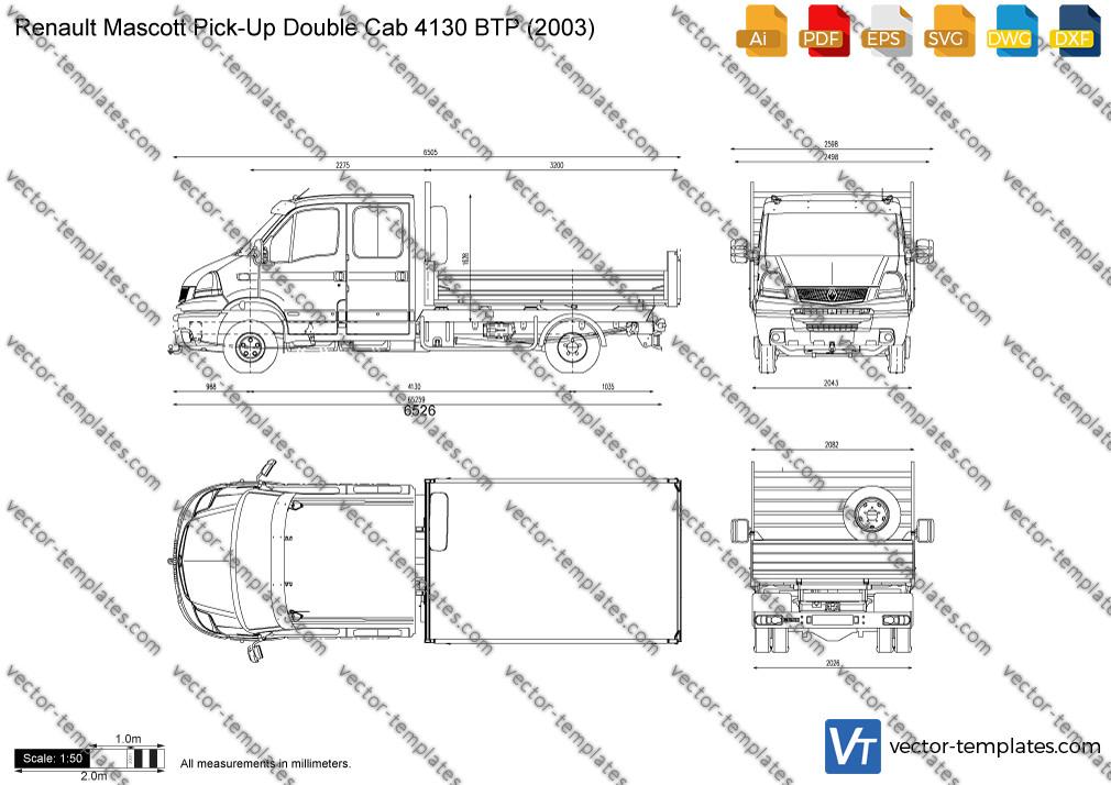 Renault Mascott Pick-Up Double Cab 4130 BTP 2003
