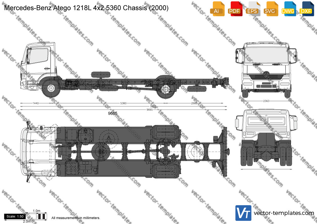 Mercedes-Benz Atego 1218L 4x2 5360 Chassis 2000