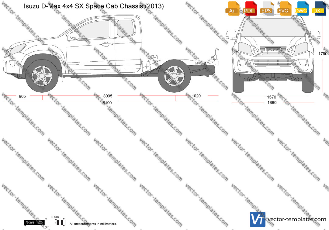 Isuzu D-Max 4x4 SX Space Cab Chassis 2013