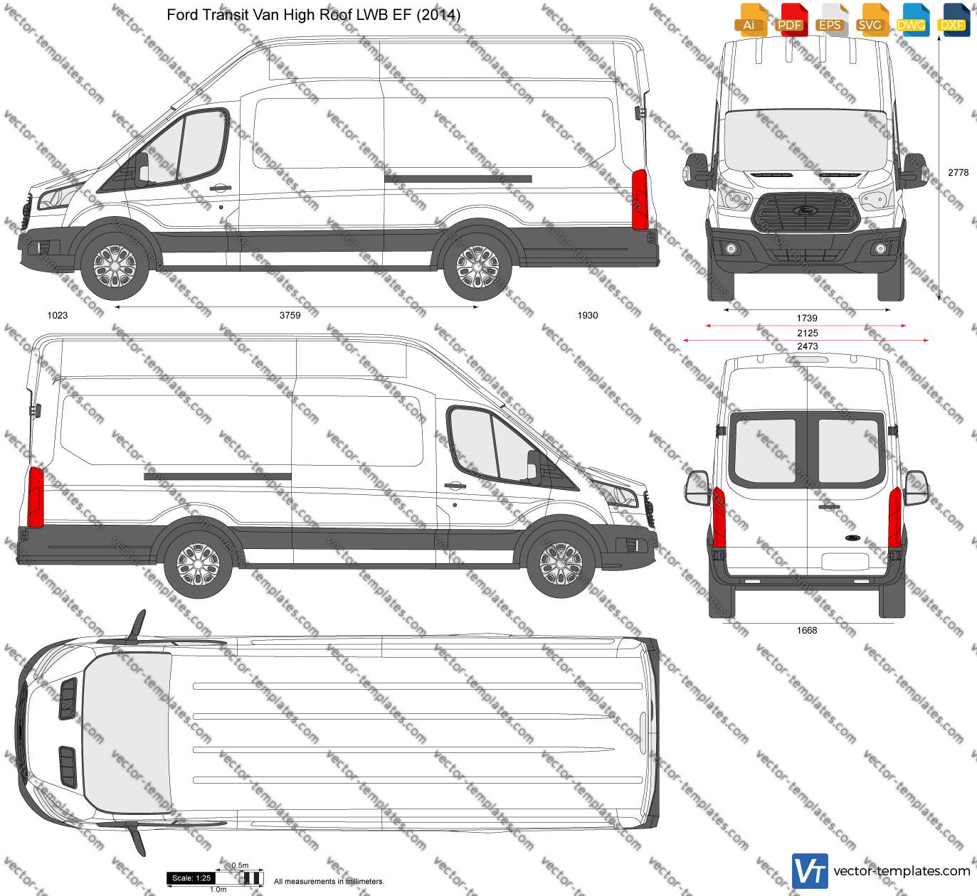 Ford Transit Van High Roof LWB EF 2014