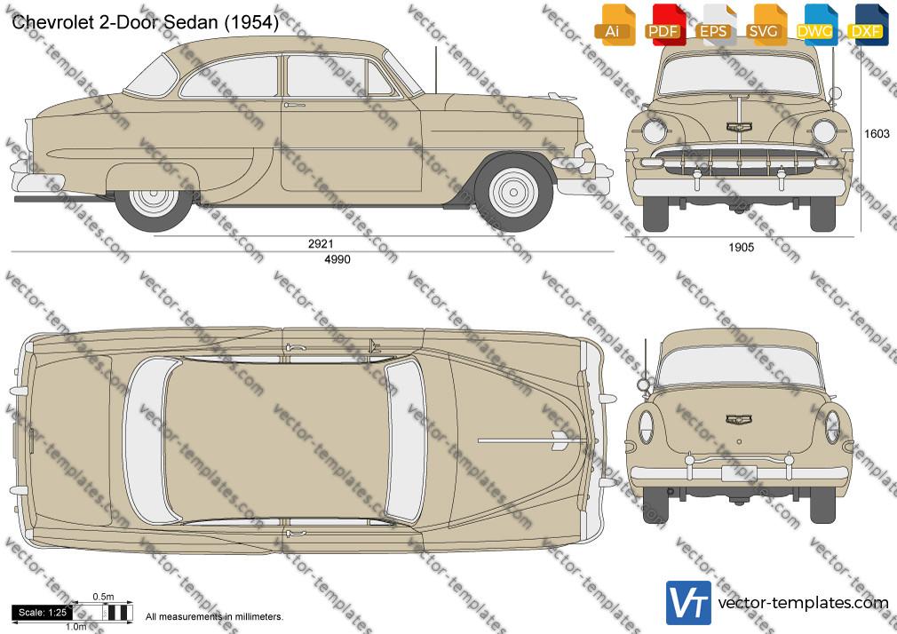 Chevrolet 2-Door Sedan 1954