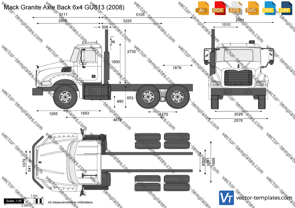 Mack Granite Axle Back 6x4 GU813 2008