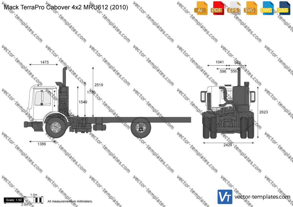 Mack TerraPro Cabover 4x2 MRU612 2010