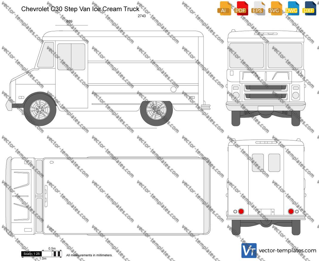 Chevrolet C30 Step Van Ice Cream Truck