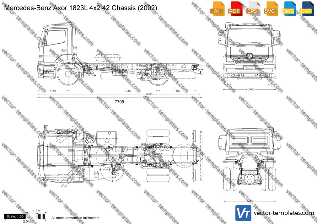 Mercedes-Benz Axor 1823L 4x2 42 Chassis 2002
