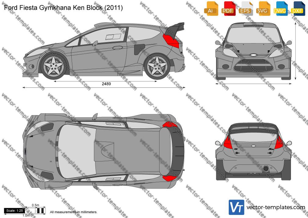 Ford Fiesta Gymkhana Ken Block 2011