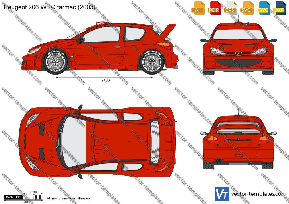 Peugeot 206 WRC tarmac 2003