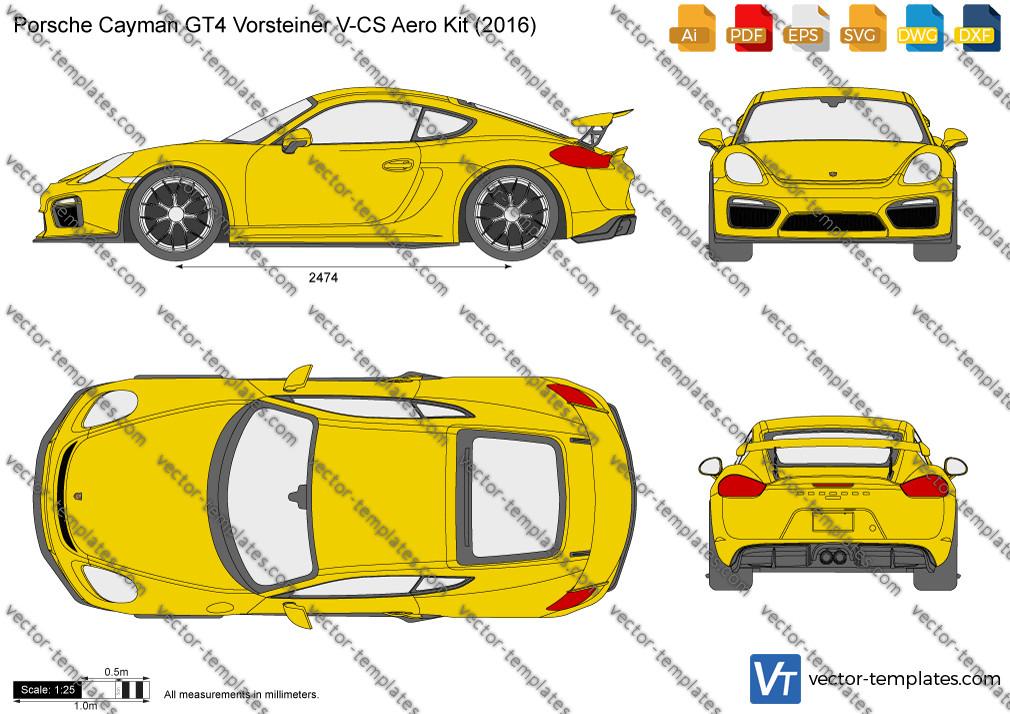 Porsche Cayman GT4 Vorsteiner V-CS Aero Kit 2016