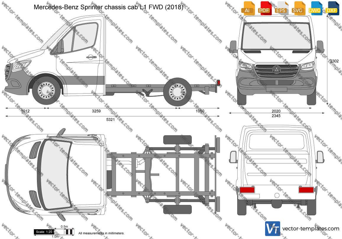 Mercedes-Benz Sprinter chassis cab L1 FWD 2018