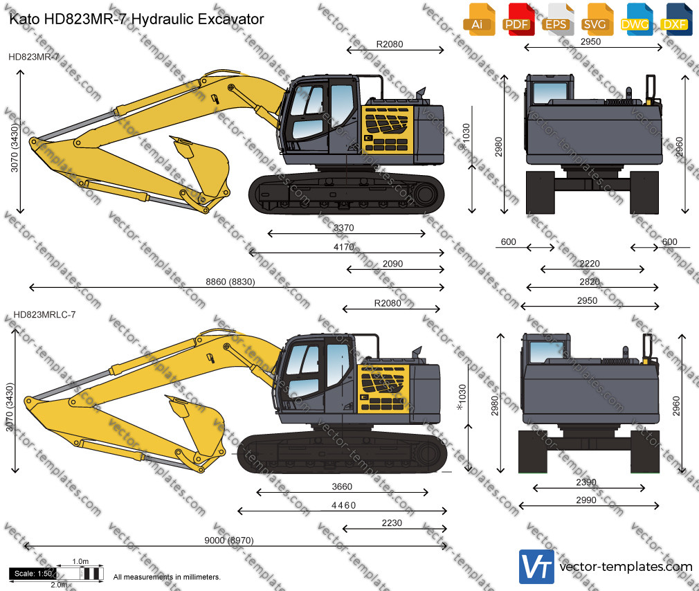 Kato HD823MR-7 Hydraulic Excavator