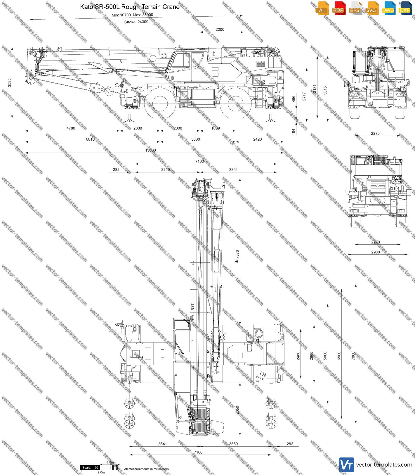 Kato SR-500L Rough Terrain Crane