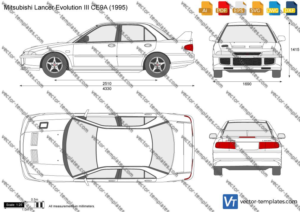 Mitsubishi Lancer Evolution III CE9A 1995