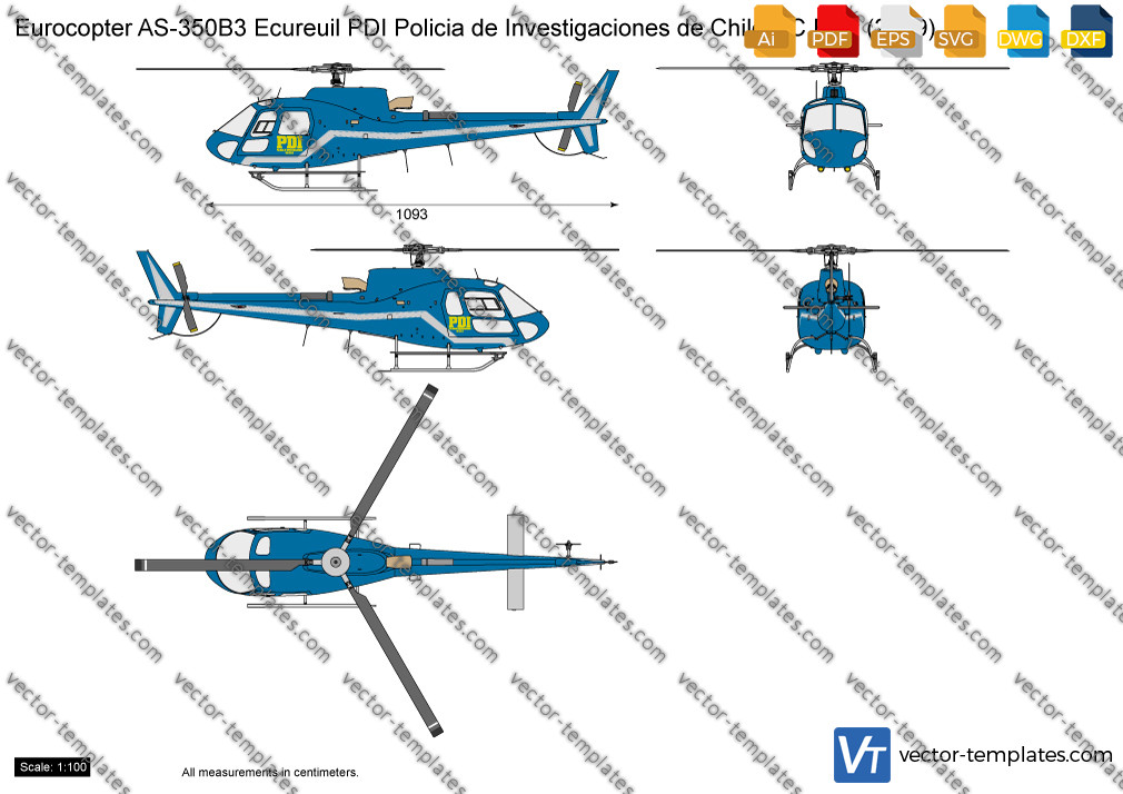 Eurocopter AS350B3 Ecureuil PDI Policia de Investigaciones de Chile CC ETE 2009