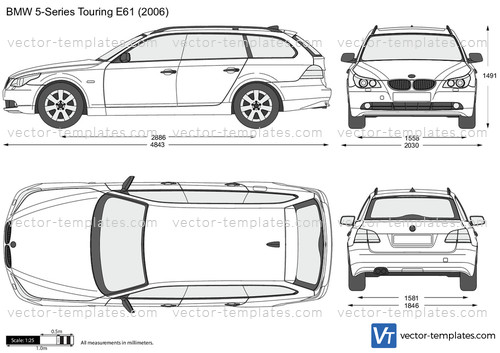 bmw e61 touring series templates template vector preview cars