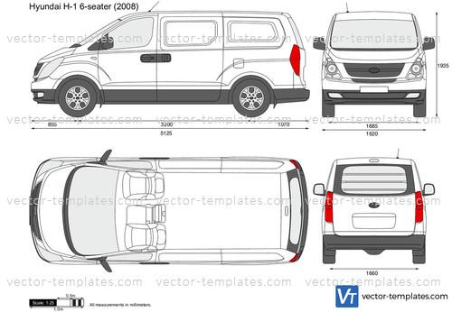 Templates Cars Hyundai Hyundai H 1 6 Seater Panel Van
