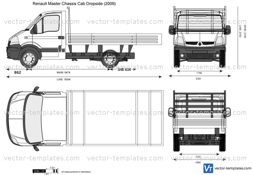 Renault Master Chassis Cab Dropside