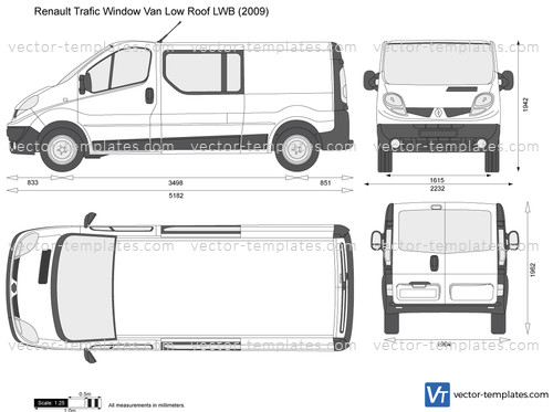 Templates Cars Renault Renault Trafic Window Van Low