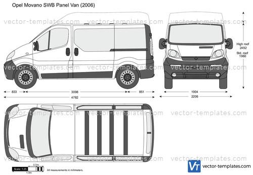 Templates Cars Opel Opel Vivaro Swb Panel Van