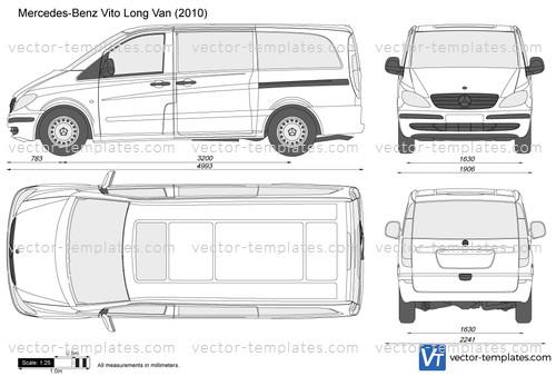Templates - Cars - Mercedes-Benz - Mercedes-Benz Vito Long Van
