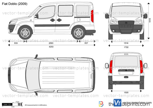 templates cars fiat fiat doblo cargo swb. Black Bedroom Furniture Sets. Home Design Ideas