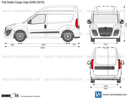 templates cars fiat fiat doblo cargo high swb. Black Bedroom Furniture Sets. Home Design Ideas