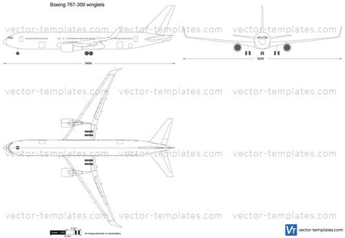 Boeing 767-300 winglets