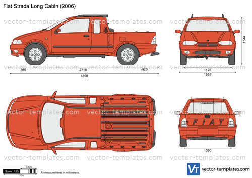 Templates Cars Fiat Fiat Strada Long Cabin