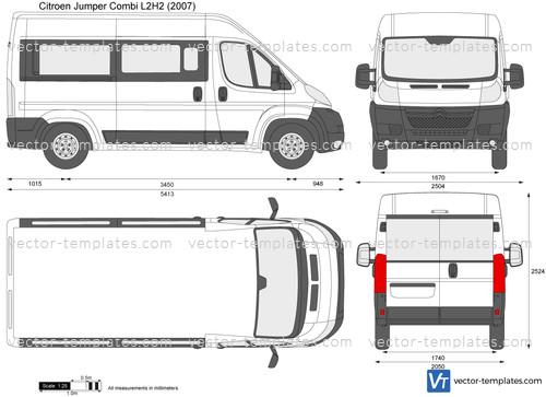templates cars citroen citroen jumper combi l2h2. Black Bedroom Furniture Sets. Home Design Ideas