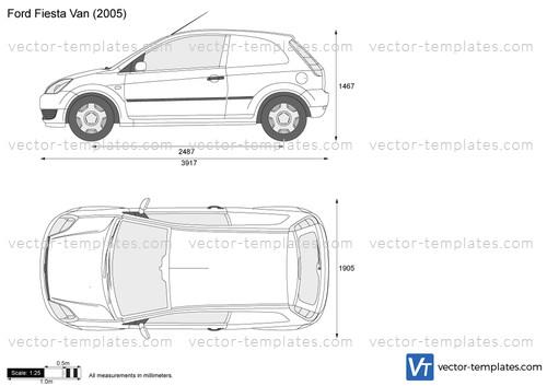 Templates - Cars - Ford - Ford Fiesta Van
