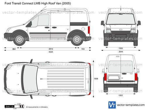 Templates Cars Ford Ford Transit Connect Lwb High