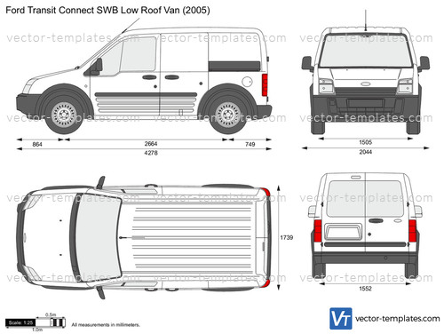 Templates Cars Ford Ford Transit Connect Swb Low