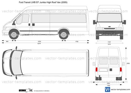 Templates - Cars - Ford - Ford Transit LWB EF Jumbo High Roof Van