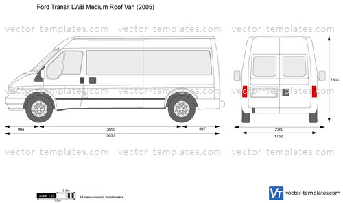 Templates Cars Ford Ford Transit Lwb Medium Roof Van