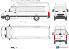 Mercedes-Benz Sprinter 313CDi Van ELWB Super High Roof